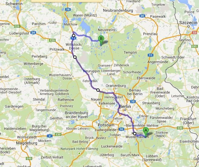 Dag 5 Van Prieroser Mühle naar Wüstrow