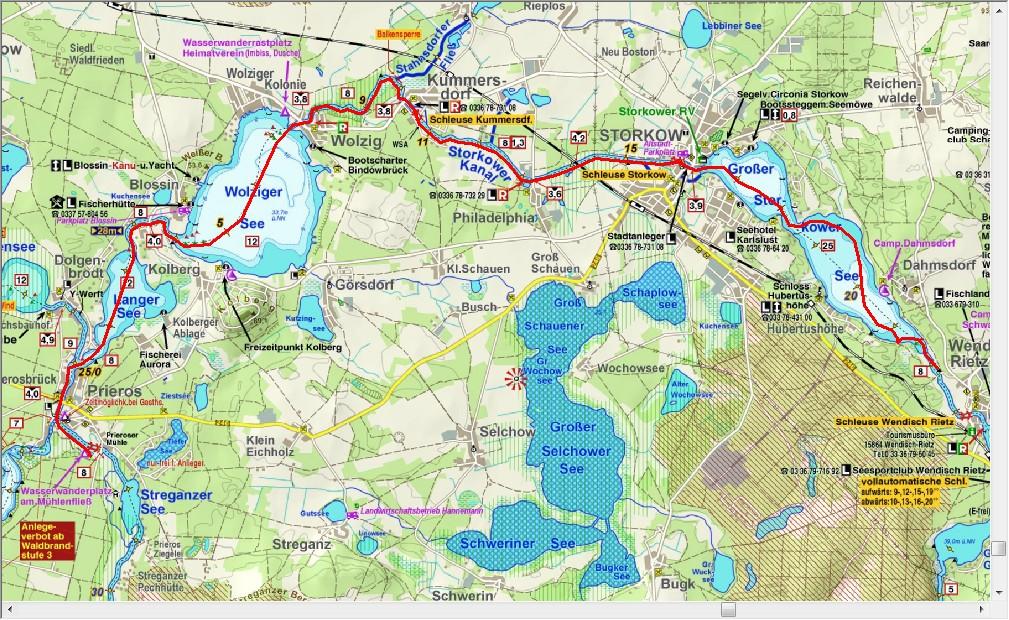 Dag 4, terug naar Prieroser Mühle (24,8 km)
