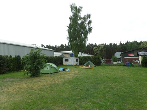 Camping Prieroser Mühle aan het begind van dag 1