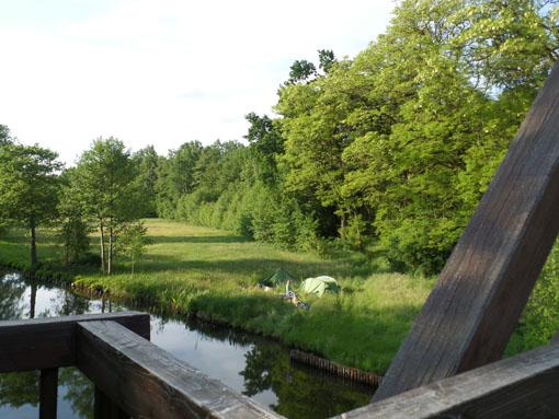 Bivak na de sluis bij Wendisch Rietz