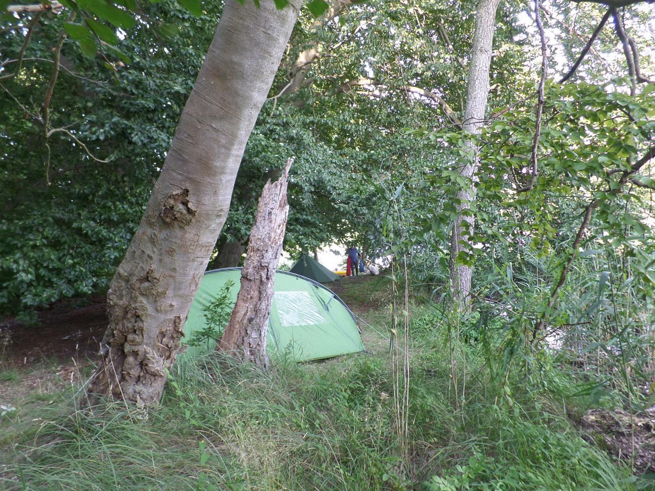 Eerste nacht wildkamperen aan de Tietzowsee