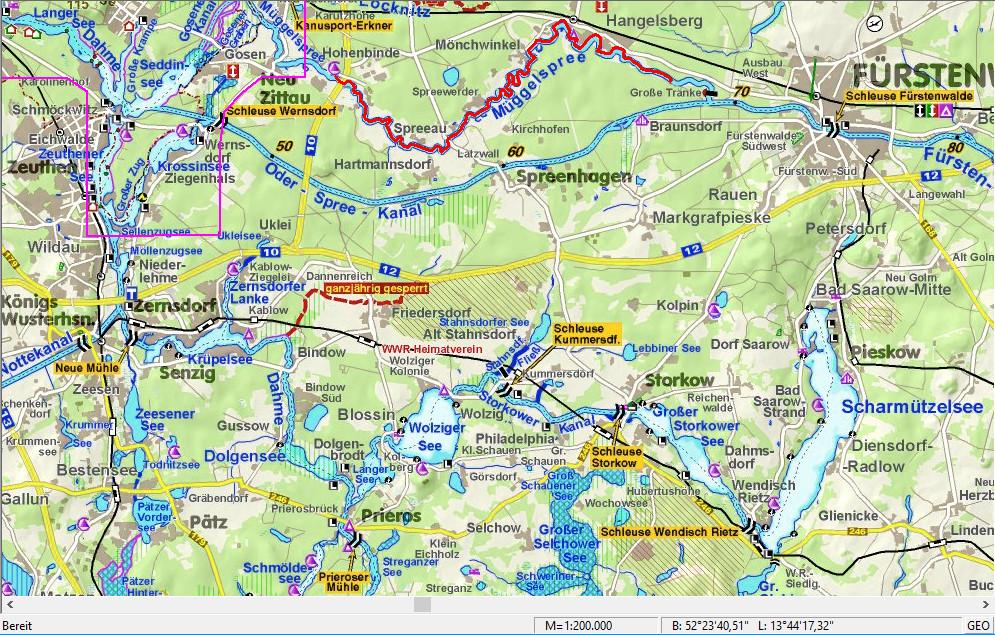 Van km 43 op de Müggelspree naar Hohenbinde (Jägerbude)