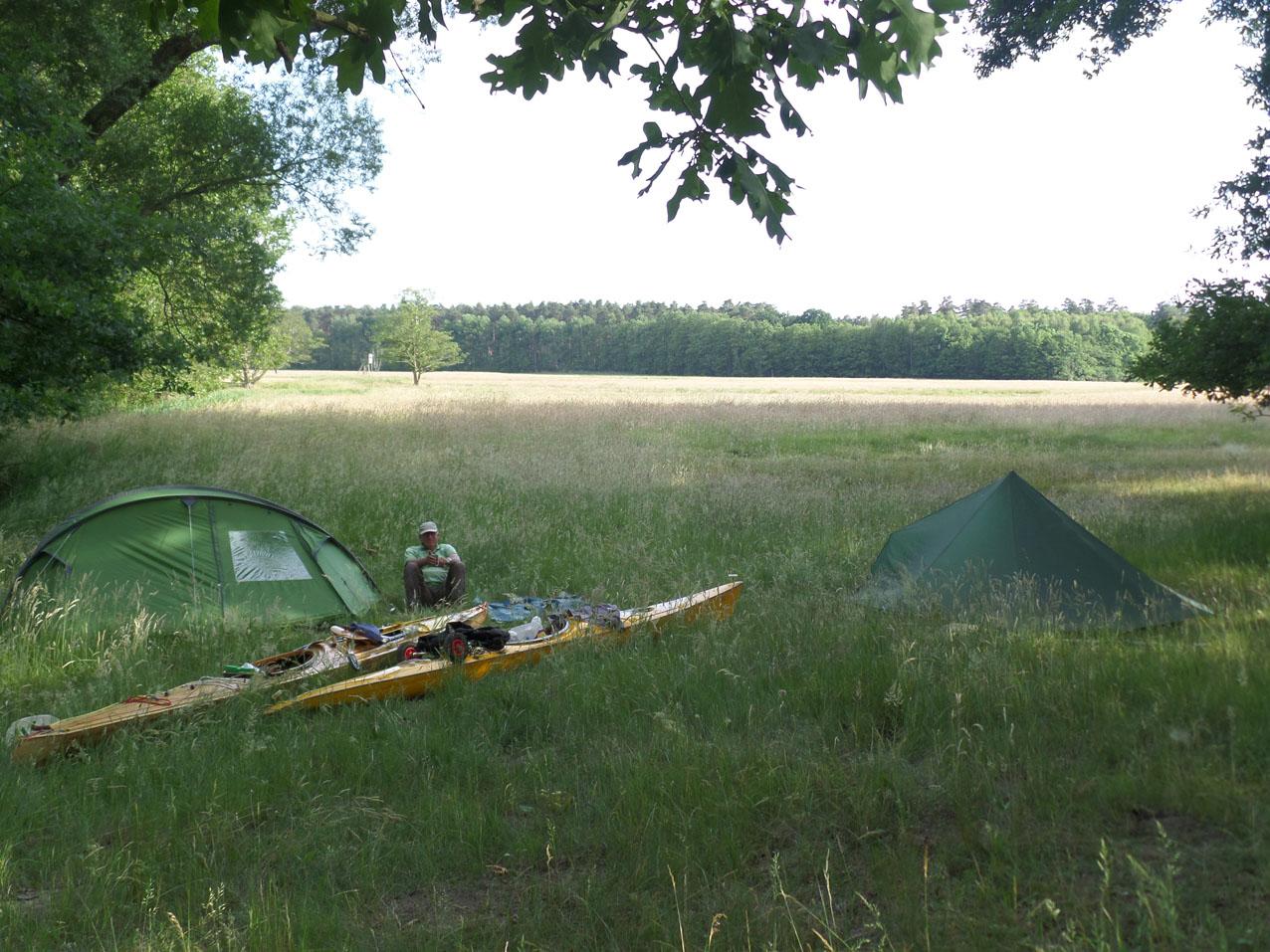 Wildkamperen vlak voor Briescht. Een prachtige plek